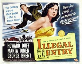 Reproduction of a poster presenting - Illegal Entry - A3 Poster Prints Online... - $22.99