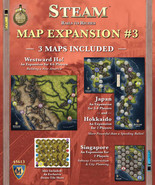 Steam: Map Expansion #3 Mayfair Games Westward Ho!, Japan, Singapore, Ho... - $19.59