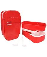 Fridge Box Retro Refrigerator Style Bento Set L... - $11.29