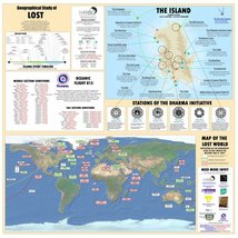 Vinteja charts of - LOST Ultimate Map - A3 Poster Print - $22.99