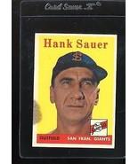 1958 TOPPS #378 HANK SAUER VGEX *T06161  - $2.02