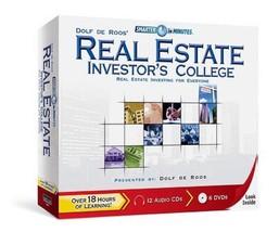 Dolf de Roos Real Estate Investor's College - 12 CDs + 6 DVDs - BRAND NE... - $149.88