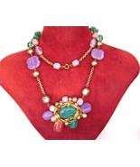 Vintage Haskell style Necklace Baroque Pearl La... - $59.00