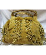 bag leather hobo style Good Condition Four Pockets Lined Purse Zippers F... - $29.95