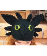 Toothless the Dragon Crochet Hat from the Movie... - $45.00