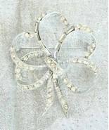 Elegant Pell Crystal Rhinestone Silvery Bow Bro... - $29.95