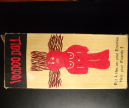 Voodoo Doll JSNY 1978 Red Doll Brown Hair Twenty Stick Pins Instructions... - $10.99