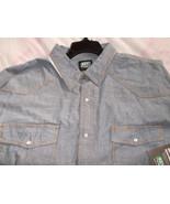 Key 4XLR Blue Chambray Short Sleeve Western Sna... - $38.56