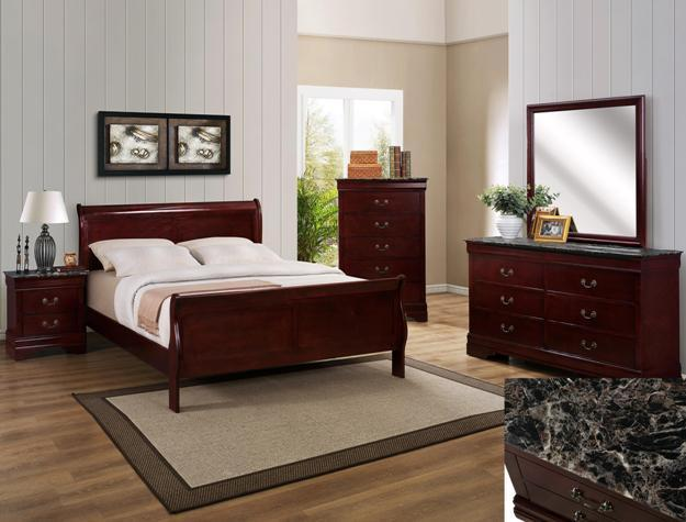 Crown Mark RB3888 Louis Philip Queen Bedroom Set Contemporary 2 Night Stands