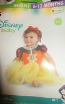 Halloween Snow White Infant Costume 6-12 NEW - $18.69