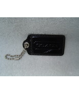 AUTHENTIC COACH JUMBO BLACK PATENT LEATHER HANG TAG W/GOLD HARDWARE EUC - $17.00