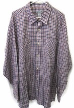 Carhartt Plaid Shirt 2XL White Red Blue Button Down Long Sleeves Two Ext... - $39.55