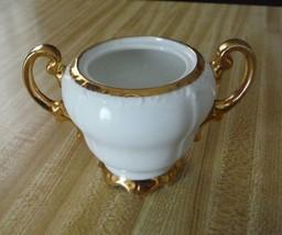 Sugar Bowl Royal Crown Richelieu 2015 White with Gold Trim - $2.86