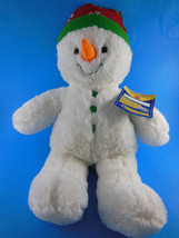 """Build a Bear Workshop Snowman Boy 2012 Plush Christmas 16"""" plush Mint wi... - $13.85"""