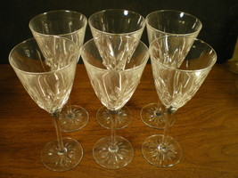 SET OF 6 CRISTAL d'ARQUES CASSANDRA WINE STEMS~~~nice set - $14.99