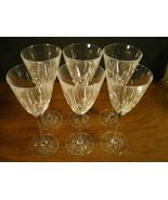 SET OF 6 CRISTAL d'ARQUES CASSANDRA WINE STEMS~~~nice set - $14.99