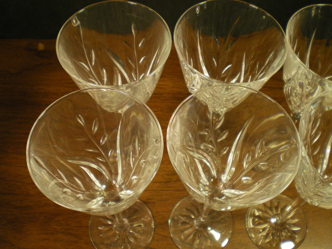 SET OF 6 CRISTAL d'ARQUES CASSANDRA WINE STEMS~~~nice set