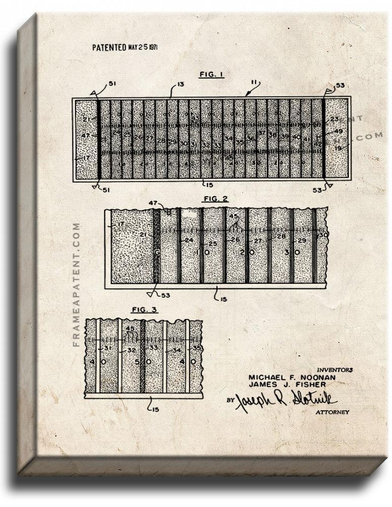 Primary image for Football Field Area Identification Means Patent Print Old Look on Canvas