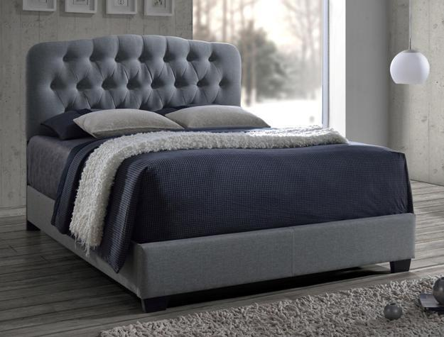 Crown Mark RB5274 Tilda Queen Size Bed Upholstered Modern Transitional Style