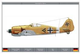 Vinteja charts of - Focke-Wulf Fw 190 A-4 - A3 Poster Print - $22.99