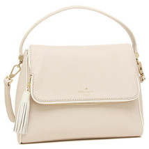 New Kate Spade Chester Street Miri Pebbled Leather Shoulder Bag Almond W... - $93.49