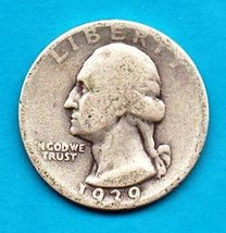 1939  Washington Quarter - Circulated - Silver - $8.00