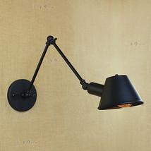 Mechanical Swing Arm Sconce E27 Light Wall Lamp Matte Black Lighting Fixture - $44.20+