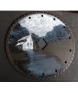 WORK IN PROGRESS Handpainted Saw Blade Old Mill... - $34.00