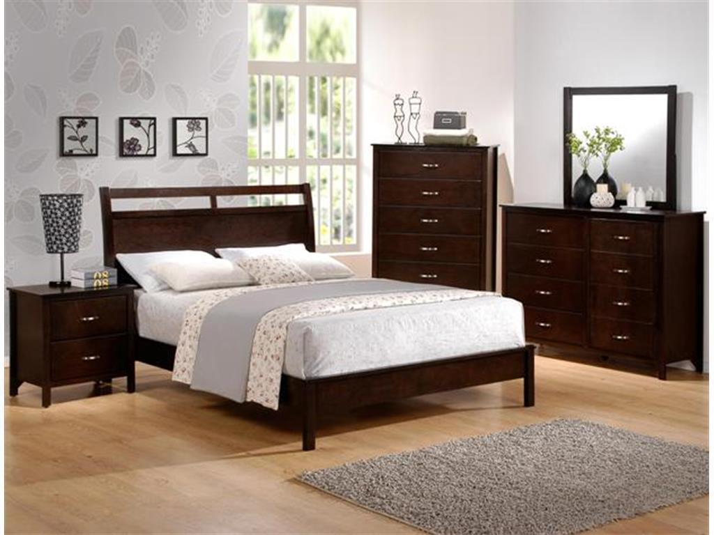 Crown Mark RB7300-7350-1 IAN Queen Size Bedroom Set 5pc. Transitional Style