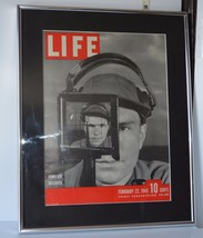 Vintage Framed w/Glass Life Magazine Cover of A... - $17.82