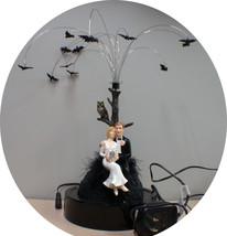 ANIMATED Night Bats Wedding Cake Topper centerpiece Halloween Sexy Black Funny - $58.41