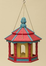 HANGING BIRD FEEDER ~ Amish Handmade Recycled Poly Hexagon in Red Blue &... - $158.85