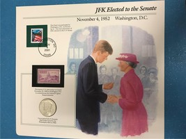 JFK Elected to the Senate November 4,1952 Collector Page w/1965 half - $12.81