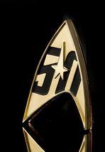 Star Trek 50th Anniversary Pin Delta Insignia Badge - Roddenberry Magnet... - $43.99