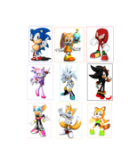 9 Sonic The Hedgehog Inspired Stickers, Party Supplies, Favors, Birthday... - $8.99