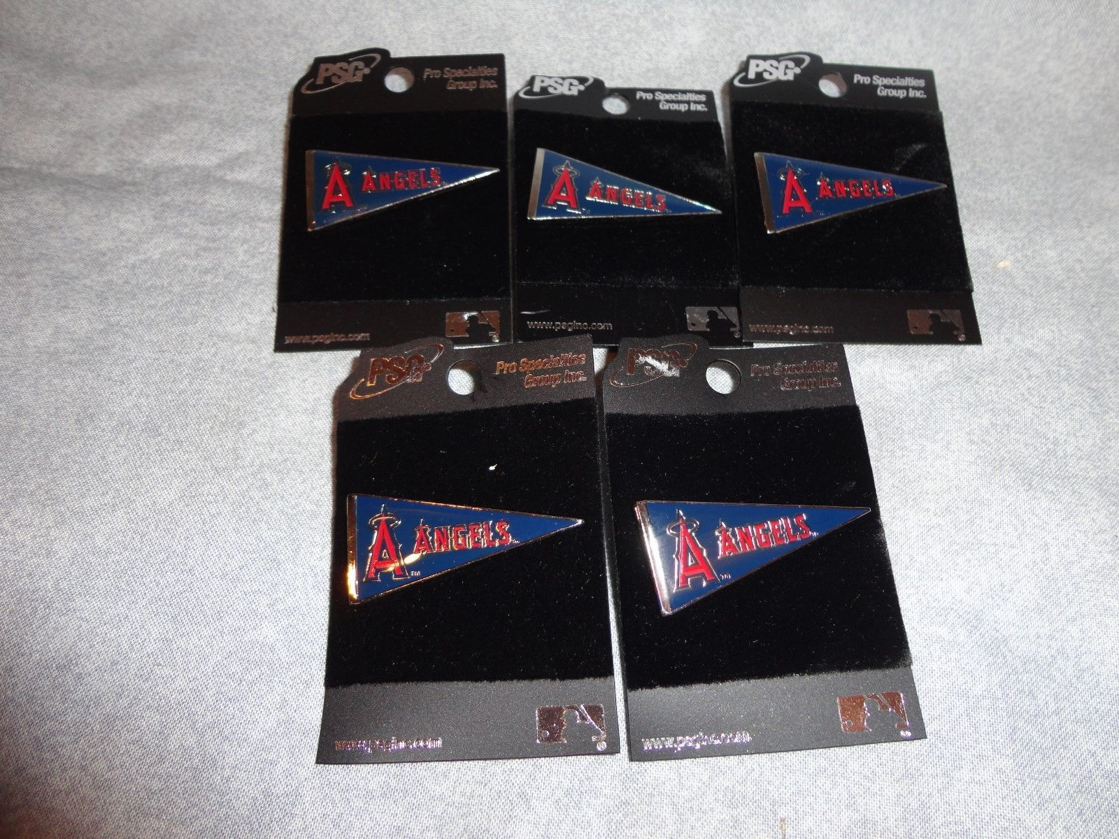 ANAHEIM ANGLELS LA ANGELS PIN PENNANT STYLE PIN MLB SET OF 5