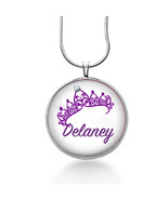 Personalized Name Necklace- Princess Crow -Custom Name Necklace for girl... - $18.32
