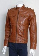 New handmade Pocket Men's Biker Leather Jacket - $169.00