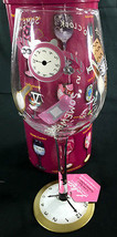 Lolita Love My Wine Glass Five O'Clock Somewhere Hand painted 15 Ounces - $44.18 CAD
