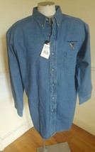 Men's Denim Shirt 3XL Dickies Long Sleeve NWT Company Logo - $17.77