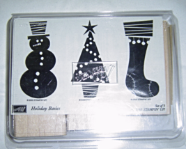 Stampin' Up HOLIDAY BASICS Set of 3 Stamps Snow... - $12.99