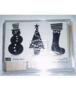 Stampin' Up HOLIDAY BASICS Set of 3 Stamps Snowman Christmas Tree Stockings 2003 - $12.99