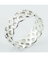 Silver ring band 925 sterling multi infinity love symbol  size 9us  8mm ... - $23.88 CAD