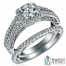 Diamond Engagement Wedding Band Round Cut 18k White Gold 1.57Carat (0.82... - £3,451.51 GBP