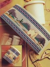 Southwest Indian Mug Insert NEW Plastic Canvas Pattern/Instructions Leaflet - $1.77