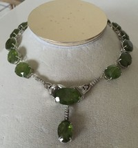 New Huge VS-S 150ct peridot diamond 14k,18k white gold, Platinum Choker ... - $29,999.99