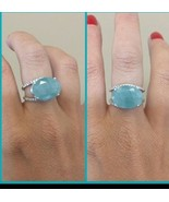 New Huge Natural Rare sky blue 12 ct Grandidierite Diamond & 14k gold ring - $12,999.00