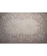 Vintage Lace Pattern Burnout Cotton Chiffon Tablecloth & 8 Napkins Set  ... - $55.00