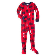 Just One You by Carter's Infant Boys Footed Sleeper Fire Trucks Dog Size 12M NWT - $12.99