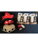 Lot Minnie Mouse Tsum Tsum Disney Stuffed Soft Plush Animals + 3 NIP Sta... - $32.67
